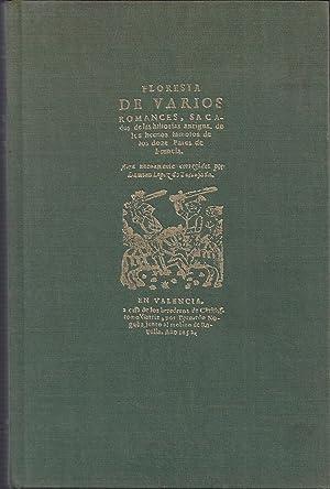 Floresta de varios romances. Edición facsimil de: LOPEZ DE TORTAJADA,