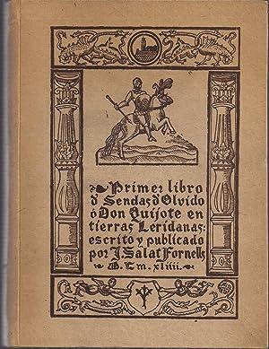 Primer libro de Sendas de Olvido o: SALAT FORNELLS, J.