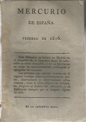 Mercurio de España,Febrero de 1816
