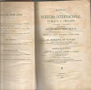Manual de derecho internacional publico y privado: EL MARQUES DE