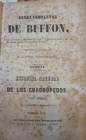 Obras completas de Buffon tomo IV. Historia natural de los cuadrupedos tomo I: BUFFON