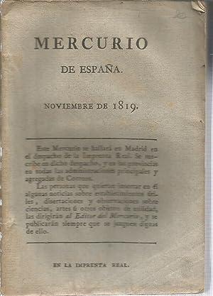 Mercurio de España, Noviembre de 1819