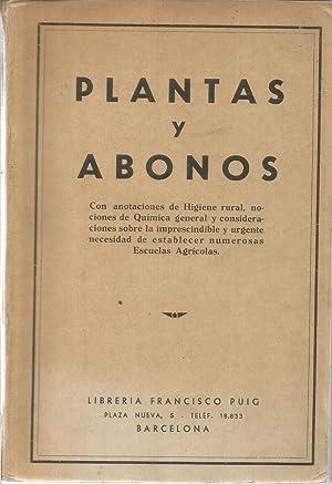 Plantas y abonos: SERRET TRISTANY, JOSE