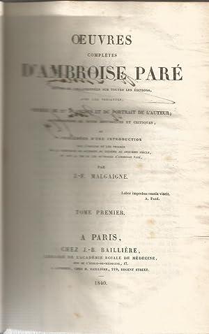 Oeuvres completes D Ambroise Paré. 3 tomos: PARE, AMBROISE