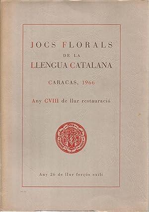 Jocs Florals de la llengua catalana. Caracas
