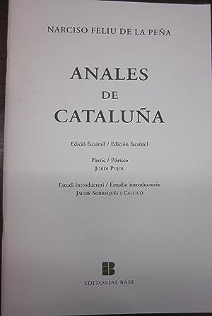 Anales de Cataluña. 3 tomos: FELIU DE LA PEÑA, NARCISO