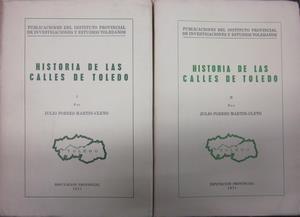 Historia de las calles de toledo. 2: PORRES MARTIN-CLETO, JULIO