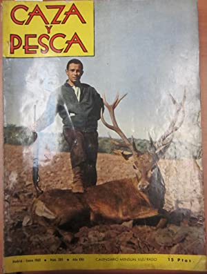 Caza y Pesca. Calendario mensual ilustrado. Año 1960