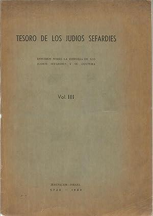 Tesoro de los judios sefardies. Estudio sobre: MOLHO, ISAAC R.