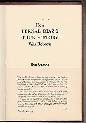 How Bernal Diaz's True History Was Reborn: Grauer, Ben