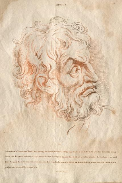 Heads representing the various Passions of the Soul; as they are expressed in the Human Countenance...