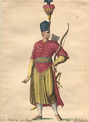 19TH-CENTURY MAQUETTE BOOK, SOUVENIR OF COSTUMES: costumes; fashion; paintings, original artwork]