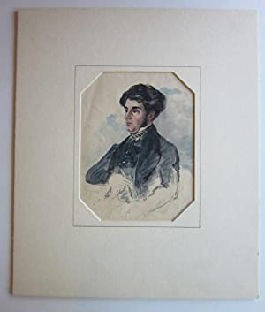 Watercolor Portrait of an Elegantly Dressed Gentleman: original artwork]