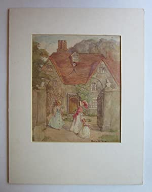 Highly Skilled Watercolor of a Country Manor: original artwork]; Pierce, Evelyn G.