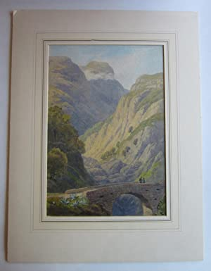Watercolor Landscape: A Ravine between Amalfi and Positano
