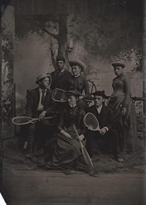 Tintype of Tennis Players: tennis]; [photography; tintype]