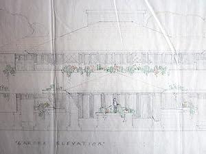 Four Original Drawings by Frank Lloyd Wright for the William B. Greene House: Wright, Frank Lloyd]