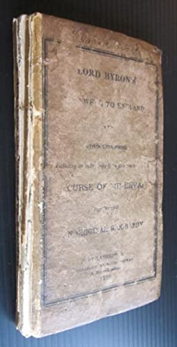 Lord Byron's Farewell to England, and Other Late Poems; Including an entire copy (now first ...