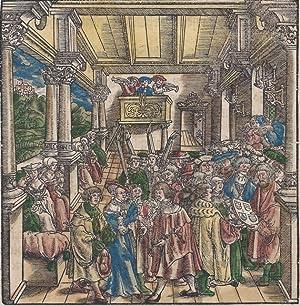 """Single leaf 'Folio CCCXCIIII,' from the """"Abscheidt des Reichstag zu Regensburg Gehalten"""" ..."""