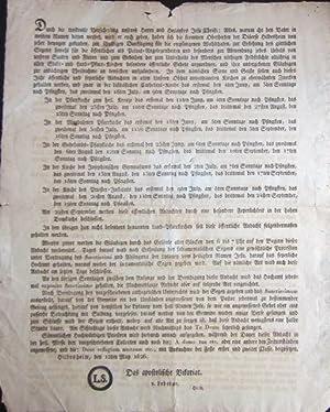 """Rare 1826 Apostolic brief of Friedrich Clemens Freiherr von Ledebur-Wicheln's """"Apostolische ..."""