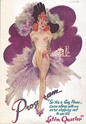 Latin Quarter. Lou Walters is Proud to Present Rudy Vallee in a New and Glorious Revue.: vintage ...