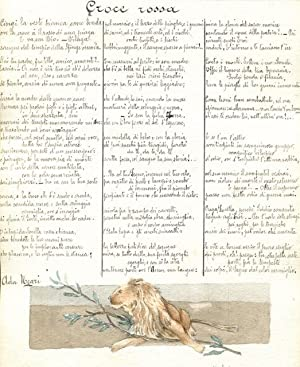 Remarkably Accomplished Turn-of-the-Century Italian Friendship Book, with Poems and Original ...