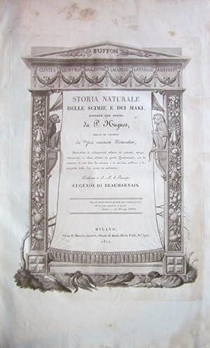 Storia naturale delle scimie e dei maki disposta con ordine da P. Hugues, dietro le scoperte dei ...