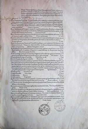 Epistolae [et tractatus]: HIERONYMUS, Saint [Jerome] (c. 345-420)