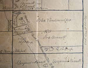 Manuscript map of Deposit and Bennettsville: manuscript map]