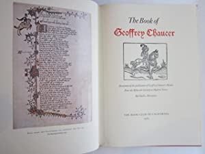 The Book of Geoffrey Chaucer: An Account of the publication of Geoffrey Chaucer's Works From ...