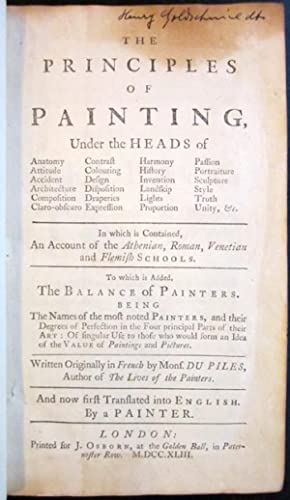 The Principles of Painting, Under the Heads of Anatomy, Attitude, Accident, In which is Contained ...