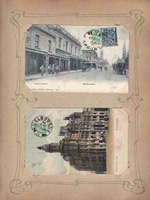 Collection of postcards from all over the world, many with postmarks and stamps, early 1900s.: [...