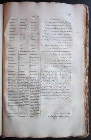 Gazophylacium linguae Persarum. Triplici liguarum clavi Italicae, Latinae, Gallicae nec non ...
