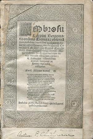 Ambrosii Calepini Bergomatis Ordinis Eremitani Observatium professoris devotissimi vocabularis ...