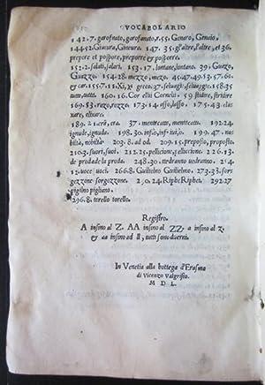 Vocabulario, Grammatica et Ortographia della lingua volgare d'Alberto Acharisio da Cento con ...