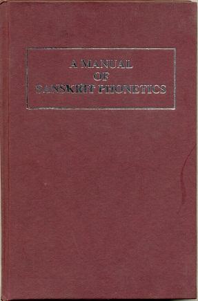A Manual of Sanskrit Phonetics in comparison: C.C. Uhlenbeck