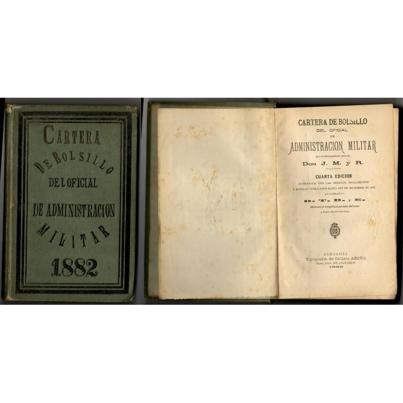 Cartera de bolsillo del oficial de Administracion militar / J.M. y R. J.M. y R. Hardcover