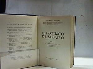 EL CONTRATO DE SEGURO: GARRIDO Y COMAS (J. J.)