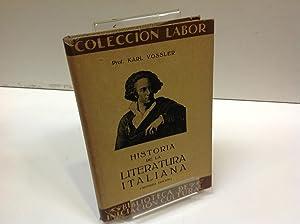 HISTORIA DE LA LITERATURA ITALIANA: KARL VOSSLER