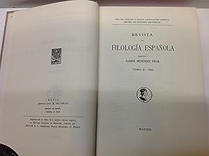 REVISTA DE FILOLOGIA ESPAÑOLA TOMO X 1923