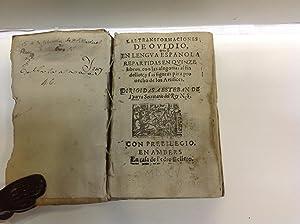 LAS TRANSFORMACIONES DE OVIDIO EN LENGUA ESPAÑOLA: OVIDIO NASON (Publio)