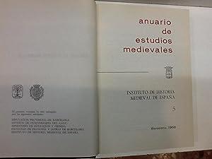 ANUARIO DE ESTUDIOS MEDIEVALES TOMO 5 1968