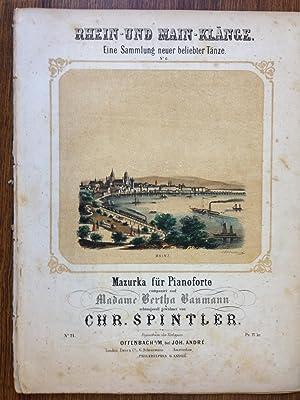 Rhein-und-Main-Klaenge. Eine Sammlung neuer beliebter Taenze.: Chr. Spintler.