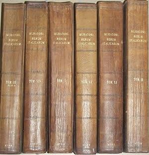 RERUM ITALICARUM SCRIPTORES ab anno Aerae Christianae: MURATORI L. Antonio.