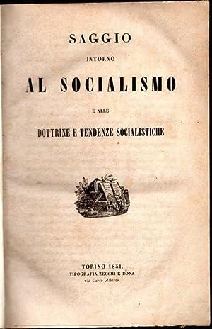 SAGGIO INTORNO AL SOCIALISMO e alle dottrine: AVOGADRO DELLA MOTTA