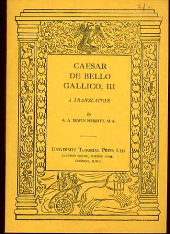 Caesar De Bello Gallico Iii A Translation
