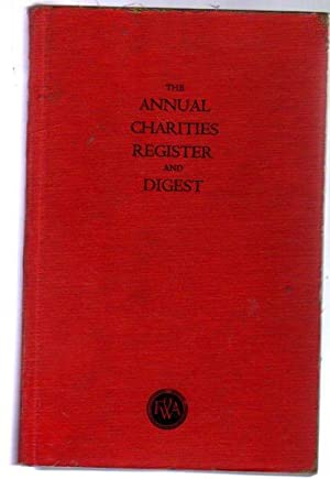 The Annual Charities Register and Digest Sixtieth Edition 1953
