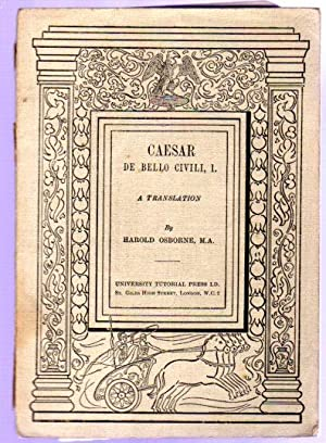 Caesar De Bello Civili, I - a Translation