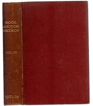 Book-Auction Records : Volume 31, Part I
