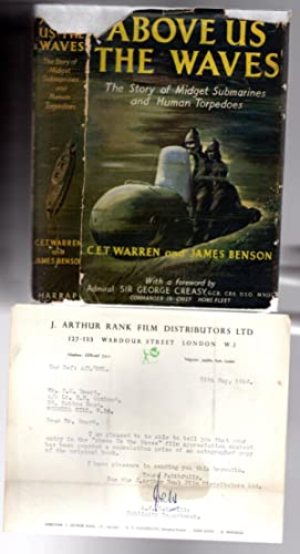 Above Us The Waves : - SIGNED By Cast of Film Including John Mills